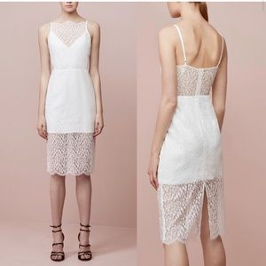 Keepsake the label white lace midi dress Sz small!